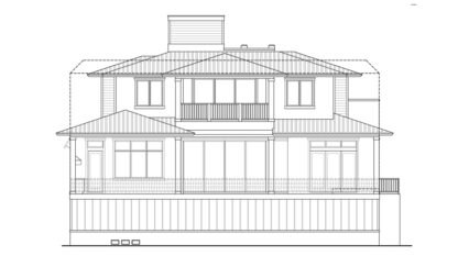 St. Lucia Rear Elevation