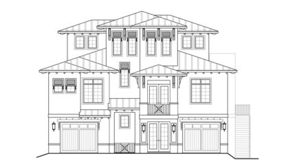 Cocoa Beach Front Elevation
