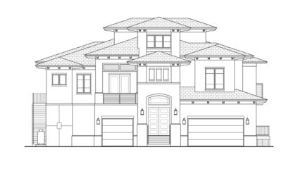Coconut Grove Front Elevation